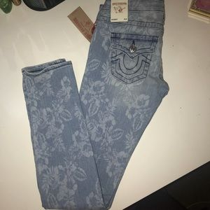 Brand New True Religion Floral Print Jeans W26